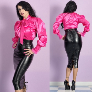 strenger Domina Leatherette Humpelrock