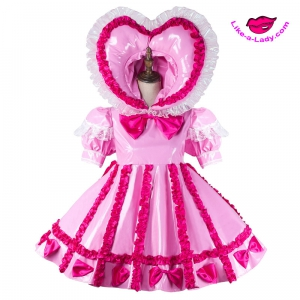 PVC DOLL extreme fetish plastic sissy dress
